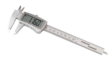 SKJUTMÅTT, DIGITALT STOR DISPL 150 mm