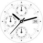 9232/1920 ISA KRONOGRAF VERK