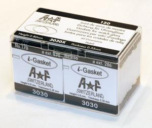 SORT. GLASPACKNINGAR 120 ST Tj. 0,35 H. 0,80 mm.