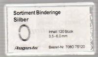 SORT. BINDRINGAR SILVER 3,5-6mm, 120 st.