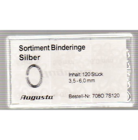 SORT. BINDRINGAR SILVER 3,5-6mm, 120 st.