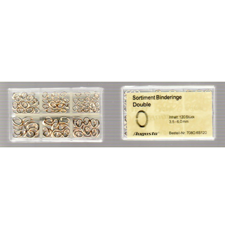 SORT. BINDRINGAR GULA 3,5-6mm, 120 st.