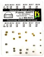 SORT. KRONOR Q-UR VIT/GUL 0,70 24 ST, tub 2,0-2,5