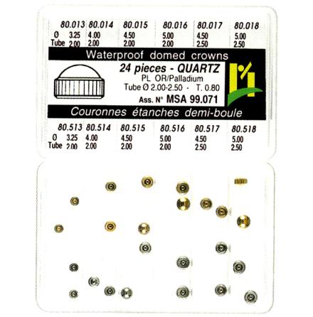 SORT. KRONOR Q-UR VIT/GUL 0,80 24 ST, tub 2,0-2,5