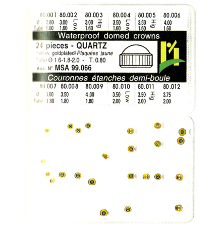 SORT. KRONOR Q-UR GULA 0,80 24 ST, tub 1,6-1,8-2,0