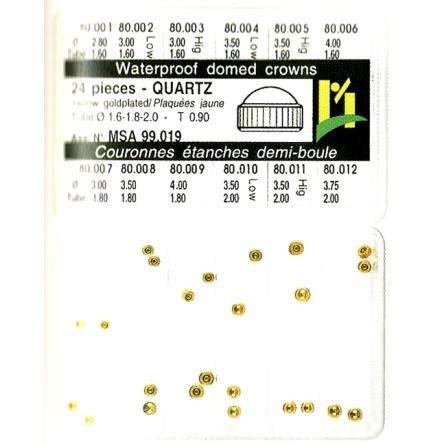 SORT. KRONOR Q-UR GULA 24 ST