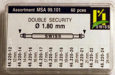 SORT. BANDST. DIA.1,8 MM SWISS 60 st, 8-22 mm