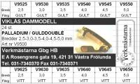 SORT. VIKLÅS DAM, GULA & VITA 24 st i bredder 2,5-5,0 mm