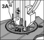 AVTAGARE 5-skänk.hjul BERGEON
