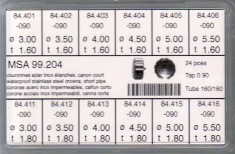 SORT. KRONOR 0,90 TUB160/180 K 24 ST diam 3-5,5 mm