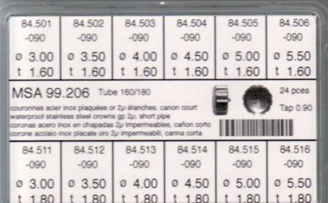SORT. KRONOR 0,90 TUB160/180 K 24 ST GULA diam 3-5,5 mm