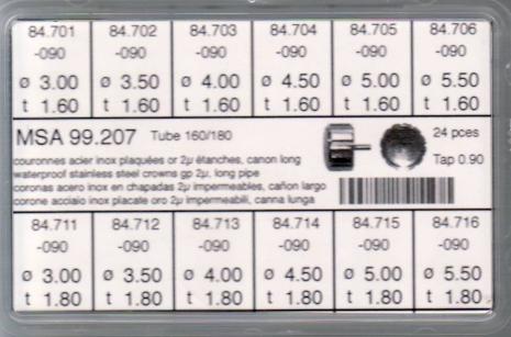 SORT. KRONOR 0,90 TUB160/180 L 24 ST GULA diam 3-5,5 mm