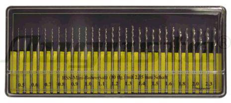 BORR, 30 st SPIRALBORR snabbst 0,50 - 2,30 mm, skaft 2,35