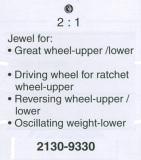 ROLEX STENHÅL 2130, rotor undr Bottenhj, mellanhj i aut, klin