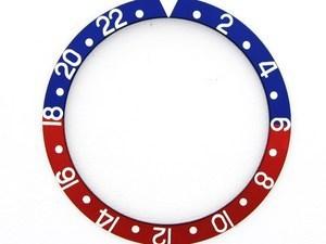 ROLEX SKALA TILL VRIDRING,BLÅR GMT PLAST 30,1x37,7 BLÅ/RÖD