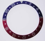 ROLEX SKALA TILL VRIDRING,SVAR GMT PLAST 30,15x37,7 SVART/VIT