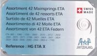 SORT. FJÄDRAR ETA 14 OLIKA/42 ST