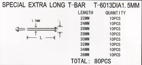 SORT. T-FÄSTE INPRESS 1,5 XL 80 ST, ROSTFR ST 22-36mm
