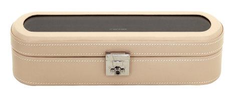 BOX FÖR 5 UR, BEIGE LÄDER 29x9,5x8 cm, Cordoba