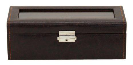 BOX FÖR 4 UR, BRUN SYNTET Bond