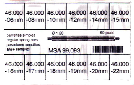 SORT. BANDSTIFT 1,2 MM FASTA 60 ST