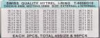 SORT. GLASPACKNINGAR 49 OLIKA Tj.0,35 H.0,8 mm för 1,0 glas