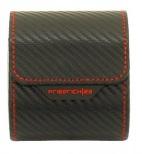 BOX FÖR 1 UR, SVART SYNTET 8,5X7X9,5 cm Carbon