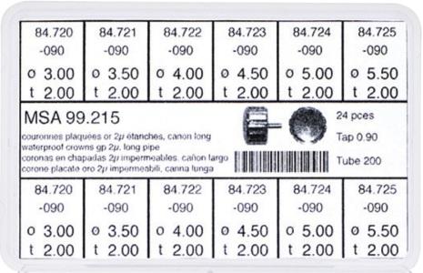 SORT. KRONOR 0,90 TUB200 LÅNG 24 ST DOUBLÈ 3-5,5 mm