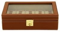 BOX FÖR 10 UR, BRUNT LÄDER 29X18,5X8,5 cm Cordoba