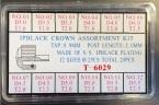SORT. KRONOR SVARTA 3 - 5,5 MM 24 ST 0,90 tub 1,6 - 2,0 - 2,5