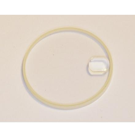 GLAS ROLEX SAFIRGLAS 25-206C packningens höjd 1,8 mm lupp