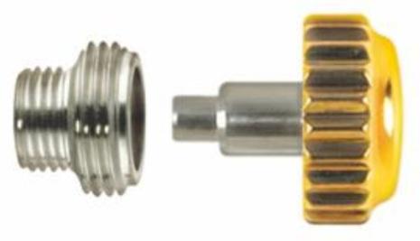 KRONA, ROLEXTYP GUL Ø 6 mm - 0,90 Inkl o-ring + tub M4,4x3