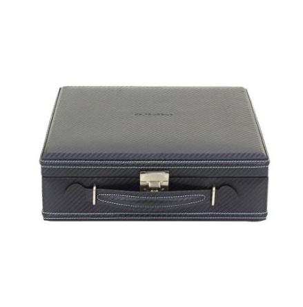 BOX FÖR 12 UR, SVART SYNTET 30 x 28 x10 cm carbon