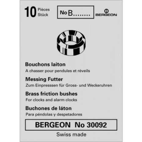 FODRINGAR I BRONS - 10-PACK BERGEON 4019