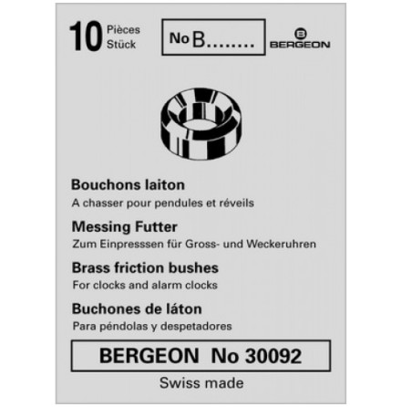 FODRINGAR I MÄSSING - 10-PACK BERGEON 30092