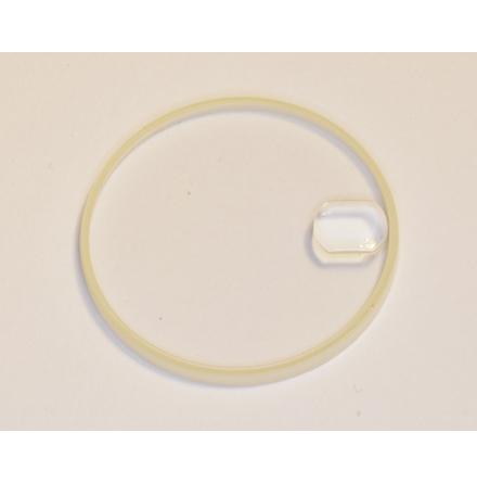 GLAS ROLEX SAFIRGLAS 25-286-C packnings höjd 2,3 mm lupp