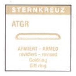 GLAS ARMERAT GUL REVIDERAD RING