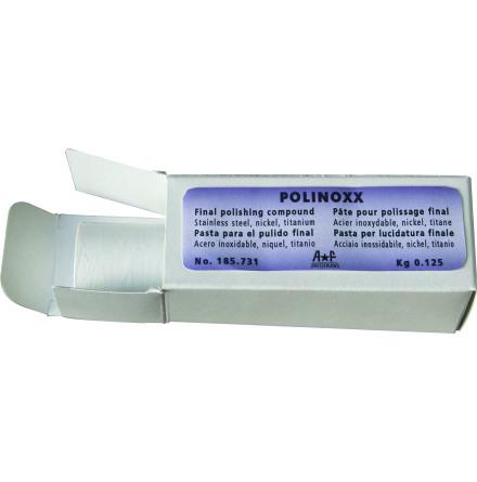 POLERPASTA POLINOXX för stål Vit. Även nickel & titan